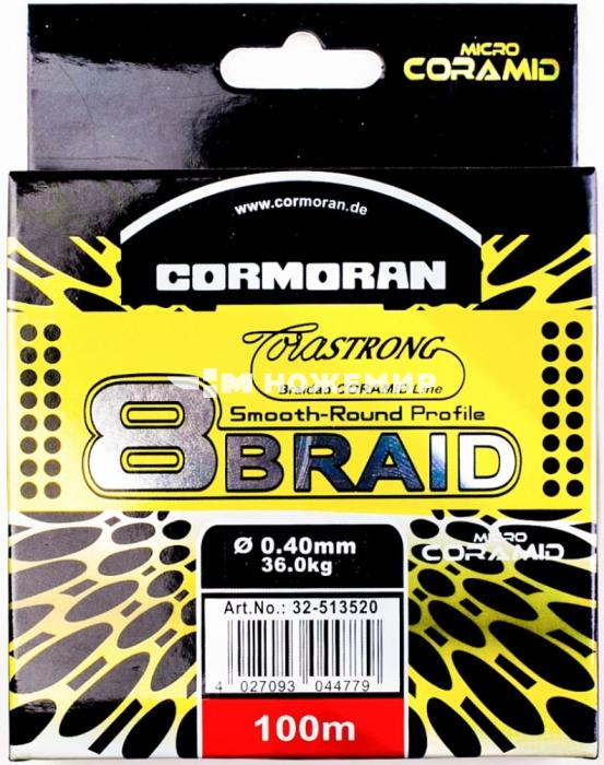 Шнур плетёный Cormoran 8 braid CMN-0,18